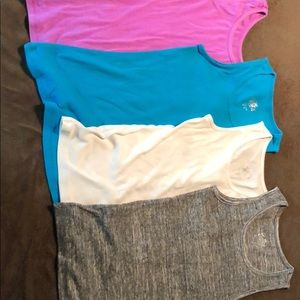 4 Justice tank tops 3 size 10, 1 size 12